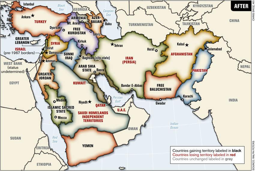 Naher und Mittlerer Osten danach