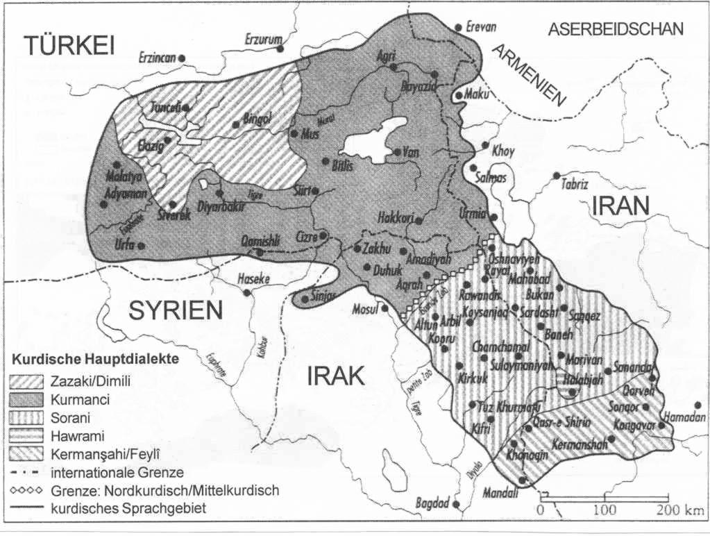 Kurdistan sprache